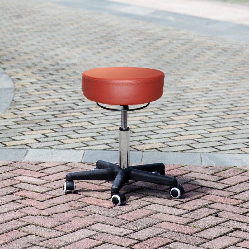 Chaise ronde pneumatique ascenseur beauté Massage technicien chaise SPA beauté ongles Salon chaise pivotante Salon de beauté en cuir coussin