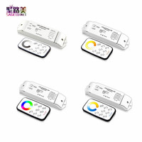 DC12V 24V RF wireless Remote dimming/CCT/RGB/RGBW/CW LED Controller Dimmer T1/T2/T3/T4/T5 with R4 Receiver for LED Strip Tape