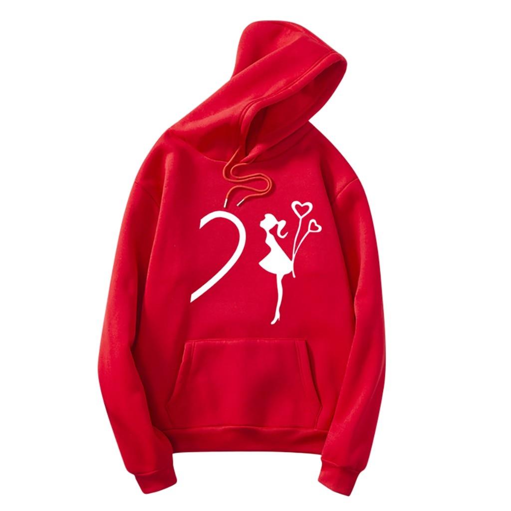Hoodie Women Print Long Sleeve Hooded Couple Sweatshirt With Pocket Fashion Женская толстовка Sudadera Mujer Damska Bluza OY40*