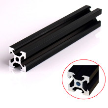 1PC BLACK 2020 V-slot European Standard Anodized Aluminum Profile Extrusion Linear Rail for CNC 3D Printer