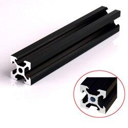 1PC BLACK 2020 V-slot European Standard Anodized Aluminum Profile Extrusion Linear Rail for CNC 3D Printer