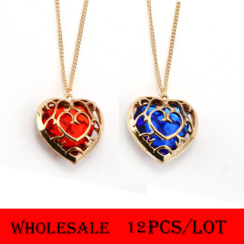 Fairy Tail Double Heart Necklace Anime Lover Couple Chic Pendant Charms Jewelry