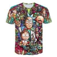 Rick und Morty Durch Jm2 Kunst 3D t hemd Männer t-shirt Sommer Anime T-Shirt Kurzarm T-shirts O-ansatz Tops Drop schiff