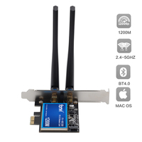 Desktop Dual Band 802.11ac BCM94360 Wireless-AC WiFi Bluetooth 4.0 PCI-E Adapter For Mac/Hackintosh/Windows