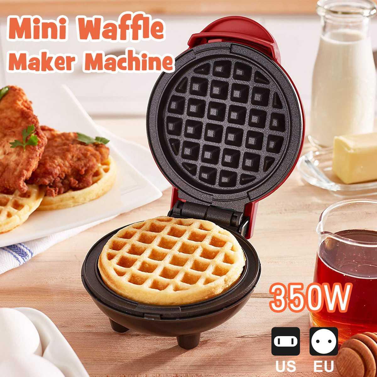 US/EU plug Mini Electric Waffles Maker Waffle Egg Cake Pancake Non-stick Baking Pan one person Breakfast Machine Muffin Sandwich