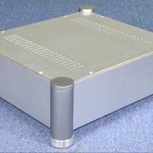 Серебряный полностью алюминиевый усилитель шасси/ламповый усилитель/предварительно усилитель шасси/amp Корпус/Чехол/DIY коробка(355*313*119 мм