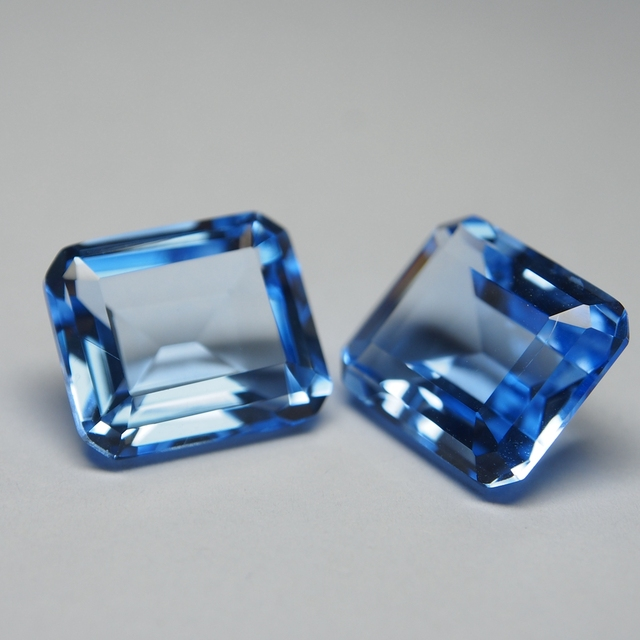 12*14 mm 5 Piece octagon Hydrothermal Quartz Aquamarine crystal Loose gemstone for jewellery making 4