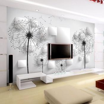 Papel tapiz de foto personalizado 3D estereoscópico diente de león pintura para pared de habitación sala de estar TV Fondo Mural de pared papel tapiz decoración del hogar