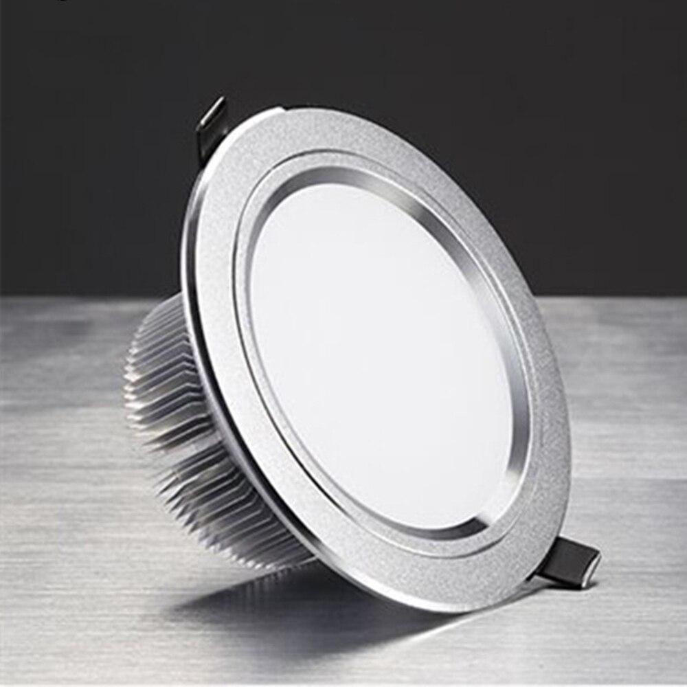 Led Downlight Spotlight Ceiling Light AC220V 3W 5W 7W 9W 12W Aluminum Alloy Embedded Warm Light White Light Family Bedroom Store