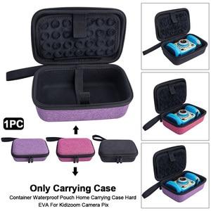 Image 3 - Saco de armazenamento fecho com zíper caso de transporte anti poeira em casa difícil eva com alça portátil bolsa viagem para kidizoom câmera pix