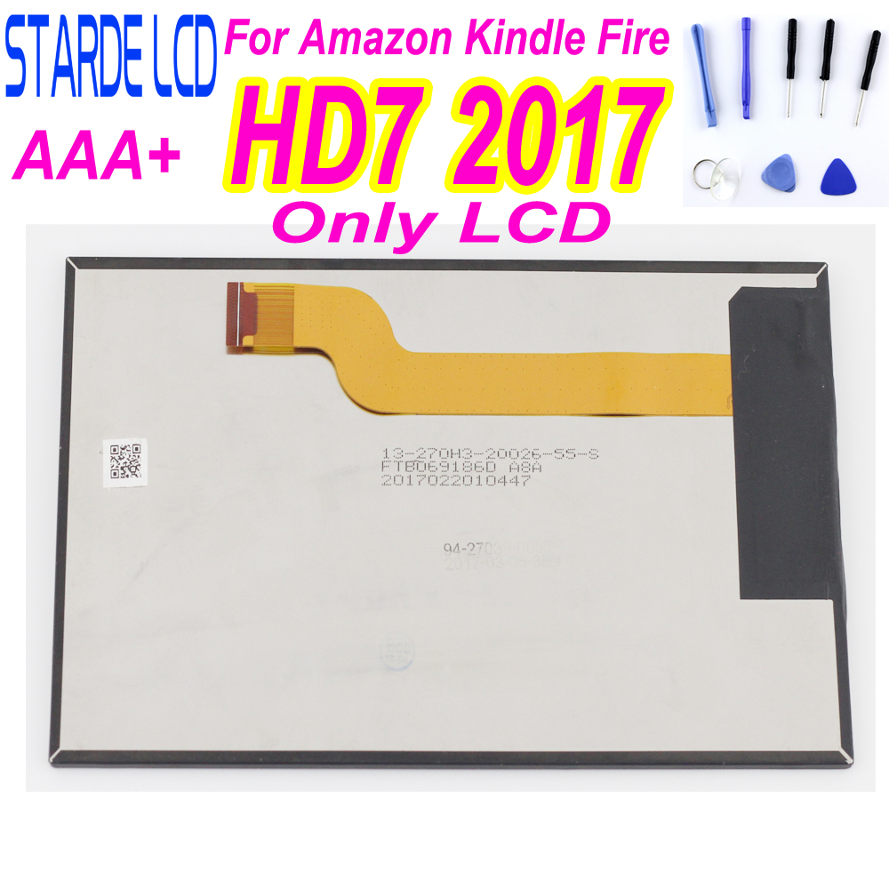 For Amazon Kindle Fire HD7 HD 7 2017 Tablet PC LCD Display Panel HD7 2017 Screen Replacement With Free Tools And Adhensive