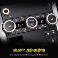 Air Conditioner Knob Decoration Ring Cover Fit for Land Rover Evoque 2014 2015 2016 2017 Car Accessories Interior Modification