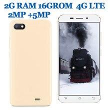 5.0 polegada tela 4g lte 8c versão global smartphones 2g ram + 16g rom 2mp 5mp hd frente/câmera traseira celular android celuares