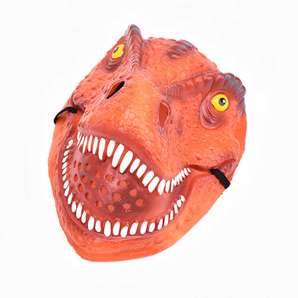 Dinosaurus Topeng Halloween Masquerade Festival Emulsi Realistis Kostum Mainan