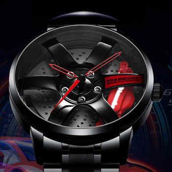 NIBOSI Felge Hub Uhr Individuelles Design Sport Auto Felge Uhren Wasserdicht Kreative Relogio Masculino 2020 Uhr Mann Armbanduhr