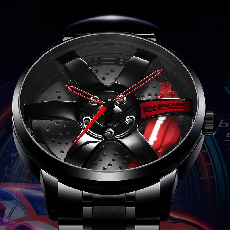 NIBOSI Wheel Rim Hub Watch Custom Design Sport Car Rim Watches Waterproof Creative Relogio Masculino 2020 Watch Man Wrist Watch