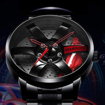 NIBOSI llanta, reloj de cubo de diseño personalizado, relojes de llanta de coche deportivo, resistente al agua, reloj creativo Masculino 2020, reloj de pulsera para hombre