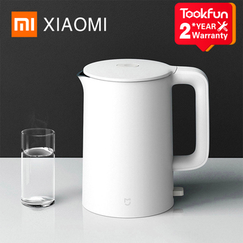 New XIAOMI MIJIA Electric Kettle 1A Kitchen Stainless Steel Insulation Teapot Smart Temperature Control Anti-Overheat Protection - discount item  18% OFF Kitchen Appliances