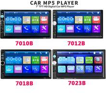"2 din Car Radio 7"" HD Autoradio Multimedia Player 2DIN Touch Screen Auto audio Stereo MP5 Bluetooth USB TF FM Camera(China)"