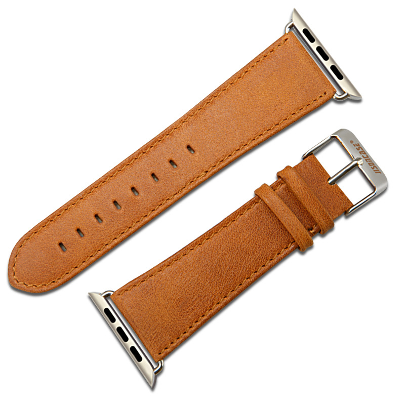 Applicable APPLE Watch3 Watch Strap Jisoncase Leather Watch Strap For Apple IWatch Watch Strap