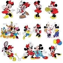 Нашивки с героями мультфильмов «Минни Микки» для одежды, футболки для всей семьи, термопереводные наклейки для украшения девочек