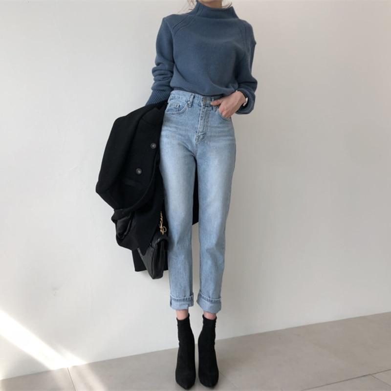 2020 Harem Pants Vintage High Waist Jeans Woman Slim Style Pencil Jean High Quality  Denim Pants Vaqueros Mujer