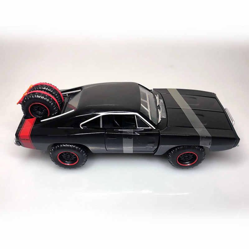 Jada 1/24 スケールカーモデルおもちゃ充電器 R/T ダイキャストメタルのおもちゃコレクション、ギフト、子供