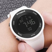 Цифровые часы synoke для мужчин и женщин водонепроницаемые спортивные
