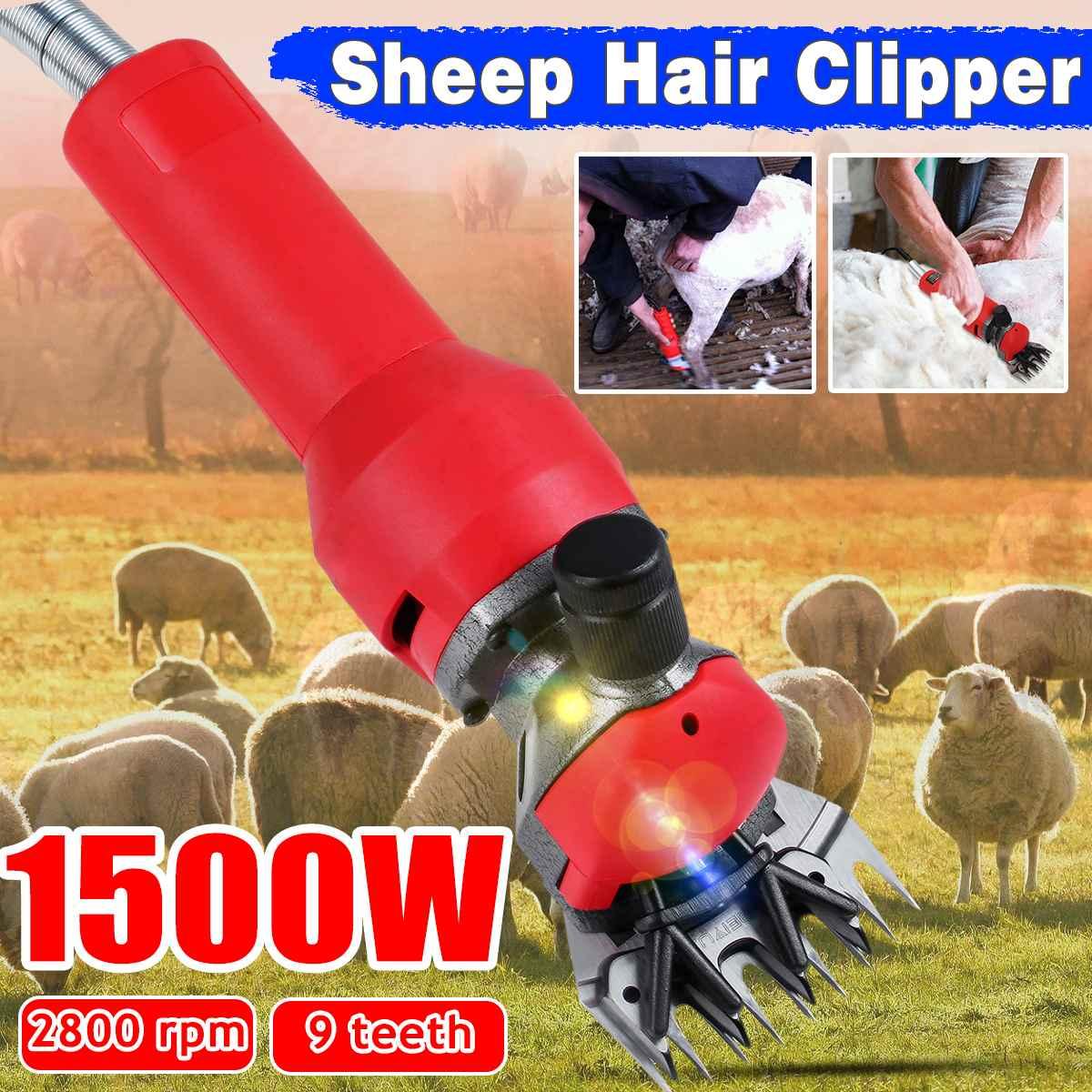 1500W 220V-240V Electric Sheep Pet Hair Clipper Shearing Kit 2800rmp Shear Wool Cut Goat Animal Shearing Supply Farm Cut Machine