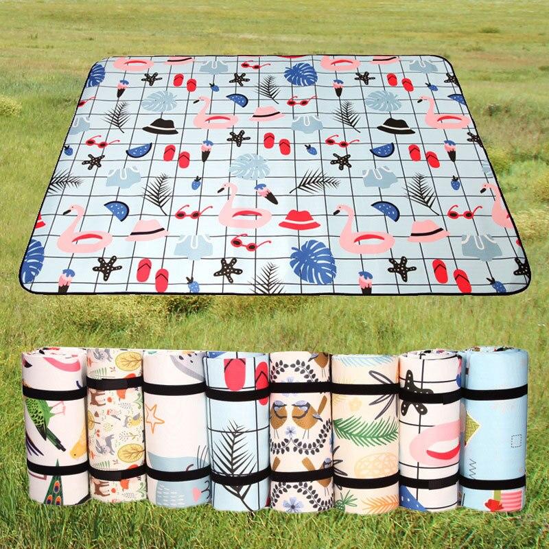 Складной коврик для кемпинга 4 размера, водонепроницаемый утолщенный коврик для пикника, пляжный коврик, детский игровой коврик, палатка, вл...