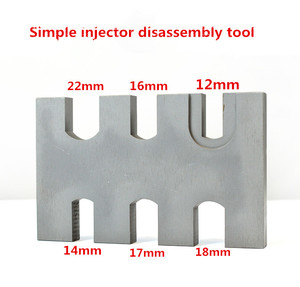 Image 2 - simple type EURO III common rail injector disassemble dismounting frame tool, common rail injector nozzle repair tools
