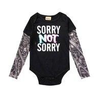 Spring Newborn Baby Bodysuit Cartoon Tattoo Baby Clothes Cotton Long Sleeve Infant Girls Clothes Print Newborn Boy Jumpsuit