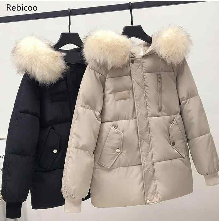 冬のファッションショート段落キツネの毛皮の襟コート羊せん断ウールコートジャケットプラスサイズの毛皮のコートの S 〜 2XL