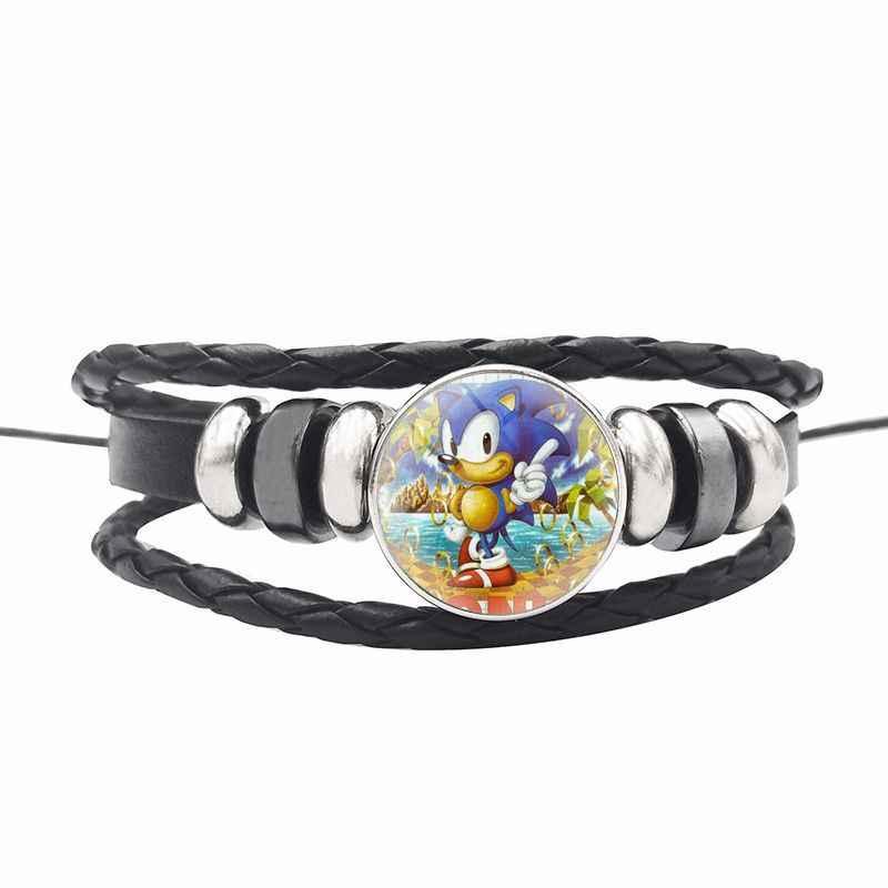 2020 Anime Permainan Sonic The Hedgehog Lanyard Kunci Telepon Tali Leher Bekerja Id Pemegang Kunci Kartu Rantai Pita Tindakan Sonic figures, Mainan
