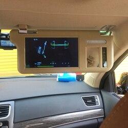 7 Cal osłona przeciwsłoneczna do samochodu ekran lustrzany Monitor LCD DC 12V beżowy lusterko wewnętrzne ekran lewa strona dla AV1 AV2 Player Camera w Monitory samochodowe od Samochody i motocykle na