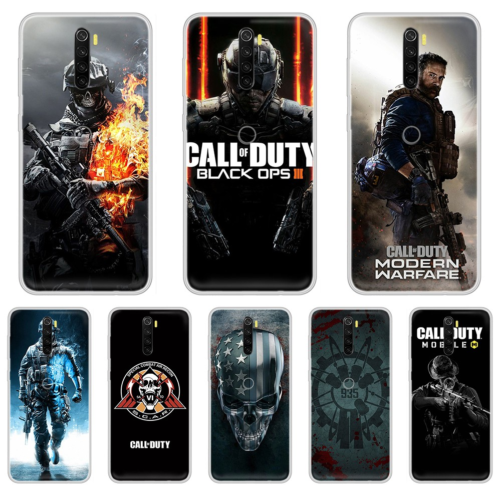 Call of Duty game trend <font><b>3D</b></font> cell cover shell Transparent Phone Case cover For <font><b>XIAOMI</b></font> <font><b>Redmi</b></font> Note 3 4 5 6 7 8 9 9s Pro max 8T <font><b>4X</b></font> image