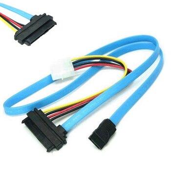 Aproximadamente 70 cm cable adaptador de disco duro SAS conexión en serie SCSI SFF-8482 a SATA HDD cable adaptador de disco duro azul