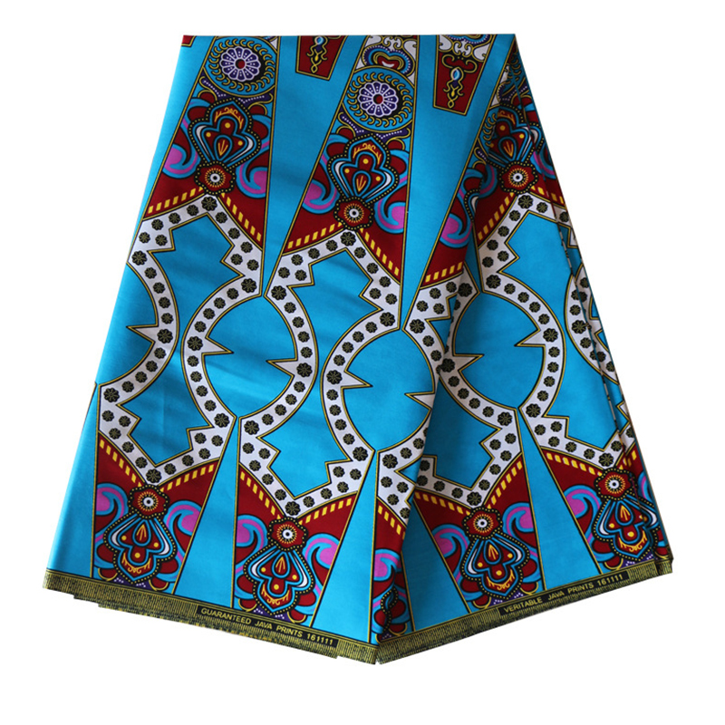Wax-Fabric Dutch-Wax Wedding-Dress African Real Latest for Sky-Blue Color High-Quality title=