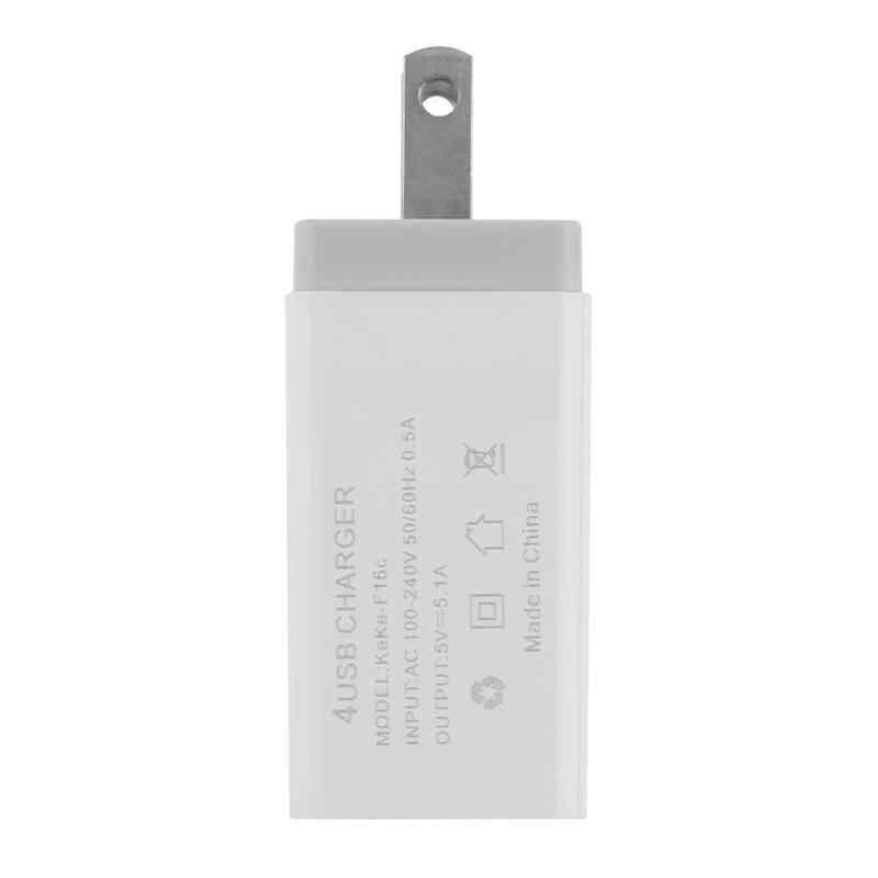 Universal 4 Port USB Charger Adapter 4A Bepergian Biaya Uni Eropa US Plug Multi Port HUB Charger Mobile Phone Charger Pengisian