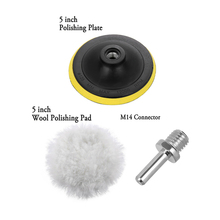 New 4/5/6 Inch Wool Polishing Buffing Pad Plate Accessories M14 Connector Drill Pads