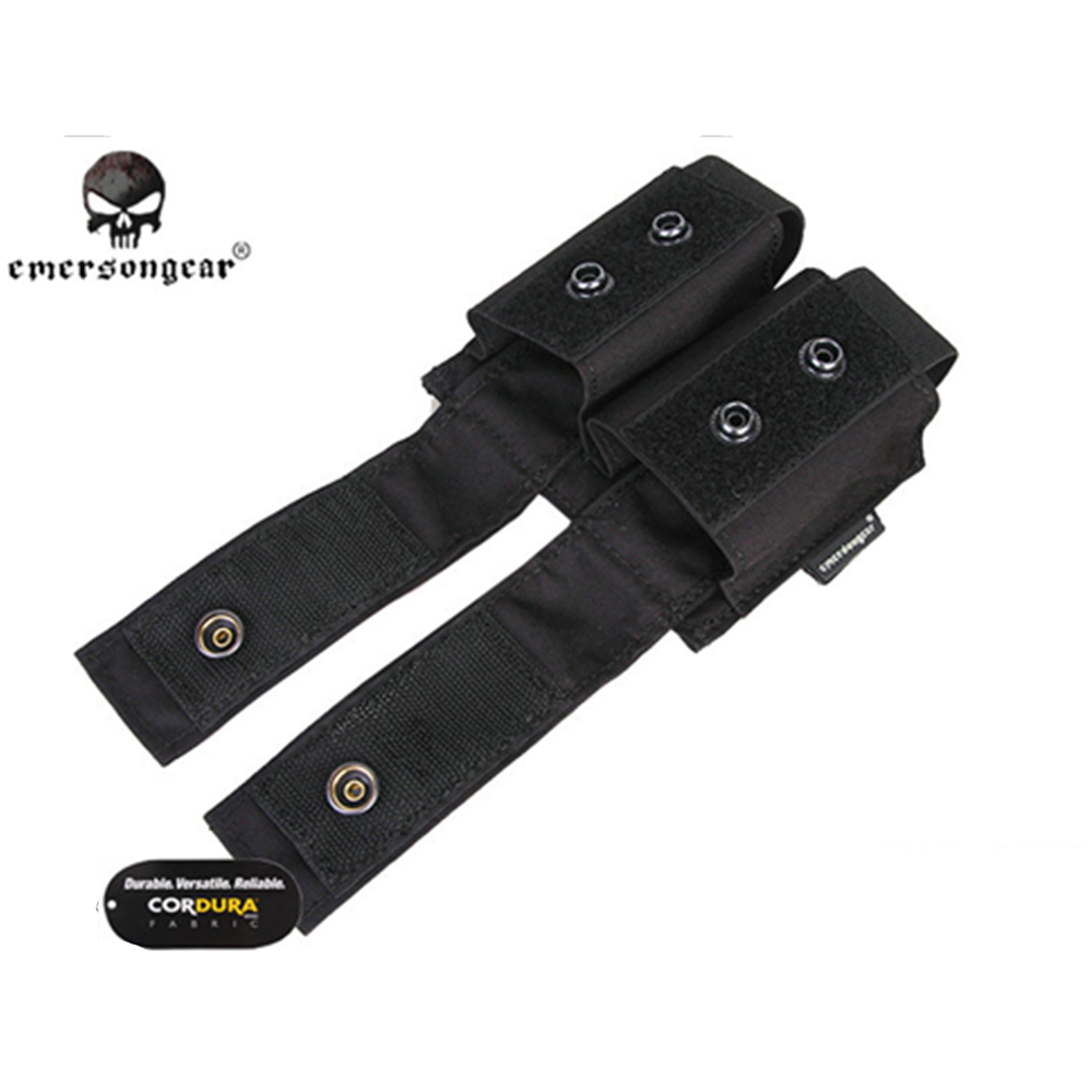 Image 3 - emersongear Emerson Tactical Double 40mm Grenade Pouch 9mm MOLLE Magazine Pouch Holder Carrier Ammo Bag airsoft pouch-in Pouches from Sports & Entertainment