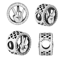Beads 100% 925 Sterling Silver Victory Coming Charm for Jewelry Making Fit Charms Bracelets free shipping YCK011
