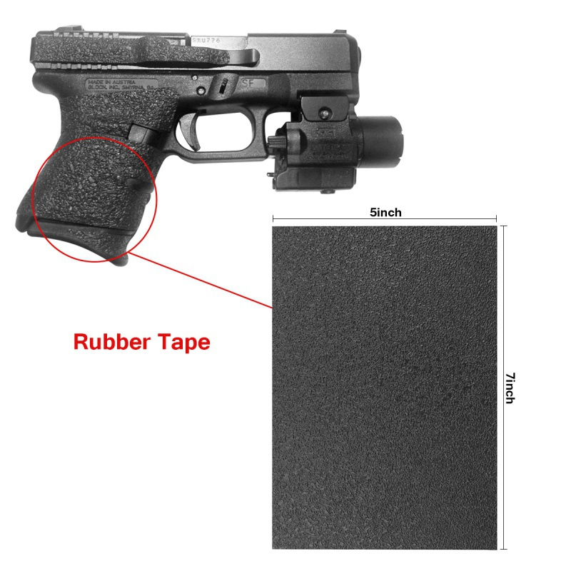Non-slip Rubber Texture Grip Wrap Tape Grips Tape Material Sheet For (Hunt)Pistol Skateboard Phone Computer Cameras Cutters Tool
