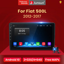 Junsun V1 Android 10.0 DSP Radio samochodowe multimedialny odtwarzacz wideo Auto Stereo GPS dla Fiat 500L 2012 - 2017 2 din dvd
