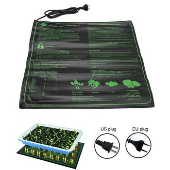 52x52cm 45W sadzonka mata grzewcza nasiona roślin kiełkowania ciepłe hydroponicznych poduszka elektryczna 110V 220V narzędzia ogrodowe tanie i dobre opinie CN (pochodzenie) Seedling Heat Mat