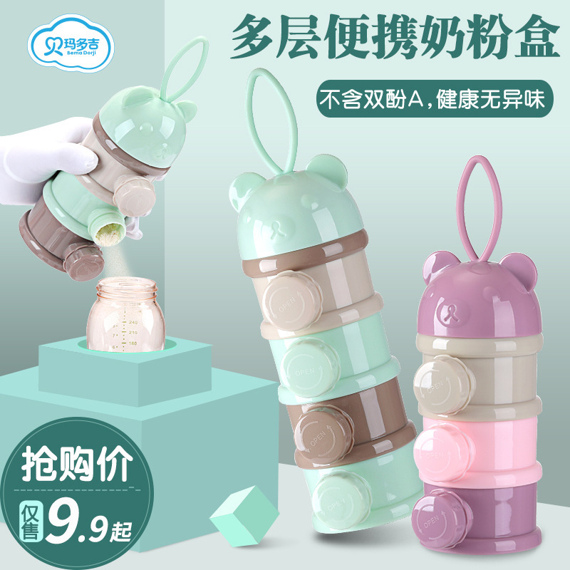 Baby Clothes Milk Box Portable Nursing Large-Volume Baby Packing Storage Tank Mini Small Sealed Milk Container