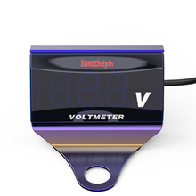 Voltmeter Universal Led Stainless Steel Bracket Car Motorcycle Anti Rust Removable Portable Multifunctional Easy Install Digital