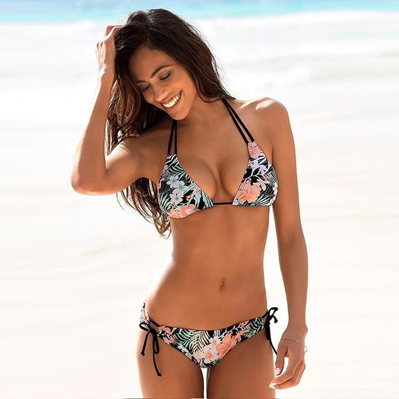 Swimwear Woman Swimsuit Sexy Bikini 2020 New Push Up Bikini Set Bathing Suit Women Print Floral Beachwear Biquini Two Piece Suit|Bikini Set|   - AliExpress