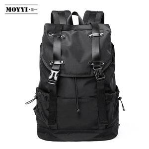Image 1 - MOYYI 새로운 패션 남자 배낭 학교 가방 남자 여행 가방 대용량 여행 방수 14 15.6 인치 노트북 배낭