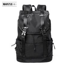 MOYYI  New Fashion Mens Backpack School Bag Mens travel Bags Large Capacity Travel Waterproof 14 15.6 inch Laptop Backpack